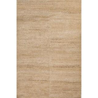 Handmade Abstract Pattern Natural/ Ivory Hemp Area Rug (8' x 10')