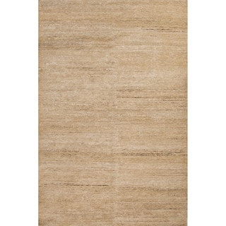 Handmade Abstract Pattern Natural/ Ivory Hemp Area Rug (2' x 3')