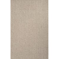 Rios Natural Geometric Gray Area Rug (5' X 8')