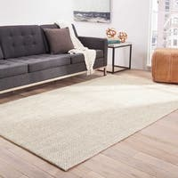 Nalani Natural Solid White/ Taupe Area Rug (5' X 8')