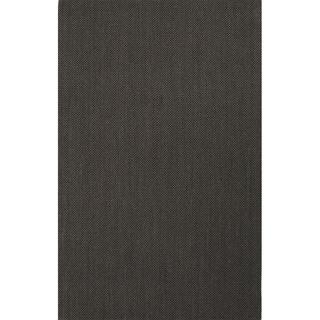 Handmade Abstract Pattern Black/ Grey Sisal Area Rug (3'x5')
