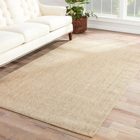 The Curated Nomad Otter Wood Natural Solid Area Rug