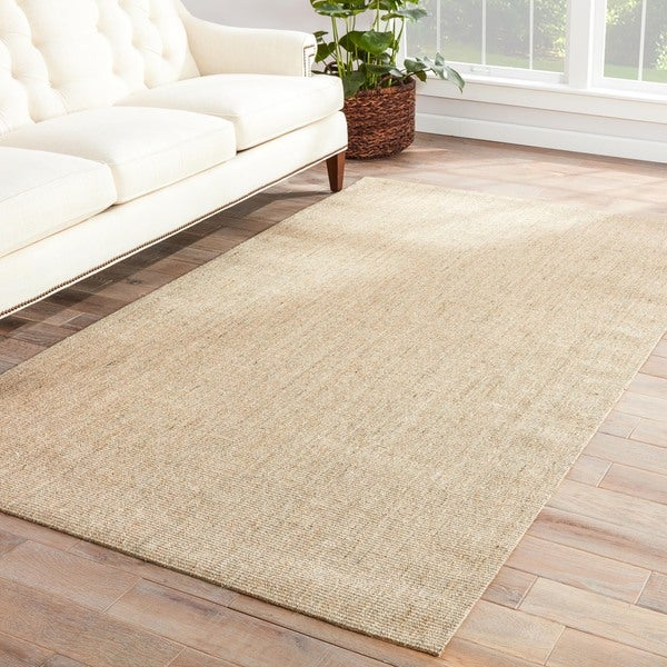 Hermosa Natural Solid Beige Area Rug 5 X 8 Free