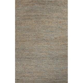 Handmade Abstract Pattern Grey/ Blue Hemp Area Rug (2'x3')