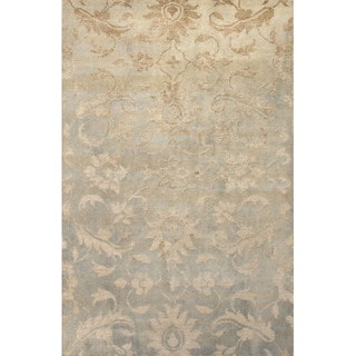 Jaipur Living Hand-Knotted Heritage Gray/Tan Floral Rug (2' x 3')