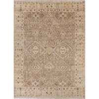 Hand-Knotted Oriental Neutral Area Rug (9' X 12')