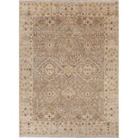 Hand-Knotted Oriental Neutral Area Rug (8' X 10')