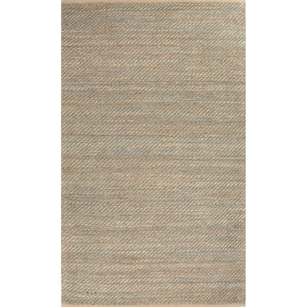 Travers Natural Solid Tan/ Green Area Rug (5' x 8') - 5' x 8'