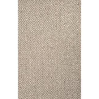 Rios Natural Geometric Gray Area Rug (4' X 6')