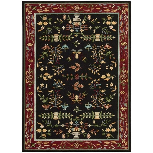 Nourison Everywhere Black Accent Rug (8' x 11') - 8' x 11'