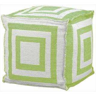 Mina Victory Indoor/Outdoor Green Cube (16-inch x 16-inch) by Nourison