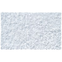 White Shaggy Raggy Cotton Jersey Rug