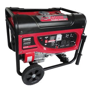 Smarter Tools 4500 Watt Portable Gas Generator with No-flat Wheels and Handles