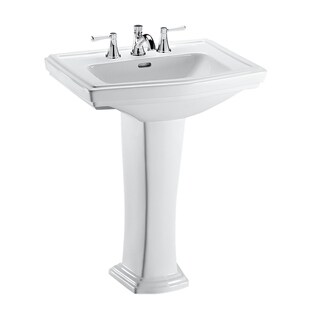 TOTO LPT780.8 Clayton Lavatory and Pedestal with 8-Inch Centers