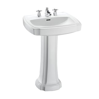 Toto Guinevere Lavatory and Pedestal with 8-Inch Centers LPT972.8#01