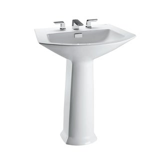 TOTO LPT960.8 Soiree Lavatory and Pedestal with 8-Inch Centers