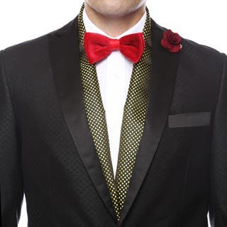 Ferrecci Men's Luxury Gold Satine Polka-dot Formal Evening Scarf|https://ak1.ostkcdn.com/images/products/9210055/P16380475.jpg?impolicy=medium