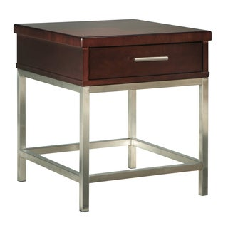 Somerton Dwelling Soho Dark Brown Stain End Table