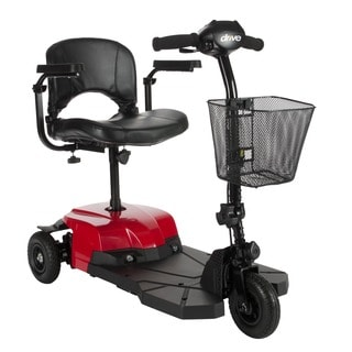 Drive Medical Bobcat X3 Compact Transportable 3-wheel Red Power Mobility Scooter