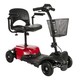 Drive Medical Bobcat X4 Compact Transportable, 4 Wheel, Red Power Mobility Scooter