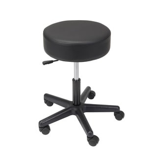 Drive Medical Padded Seat Revolving Pneumatic Adjustable Height Plastic Base Stool