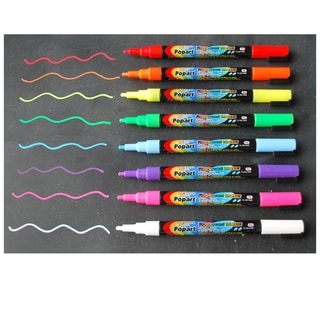 Fine Tip Fluorescent Chalk Markers (Set of 8)