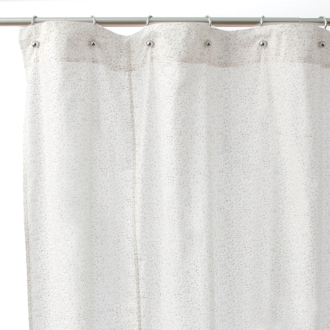 Pink Floral Cotton Shower Curtain