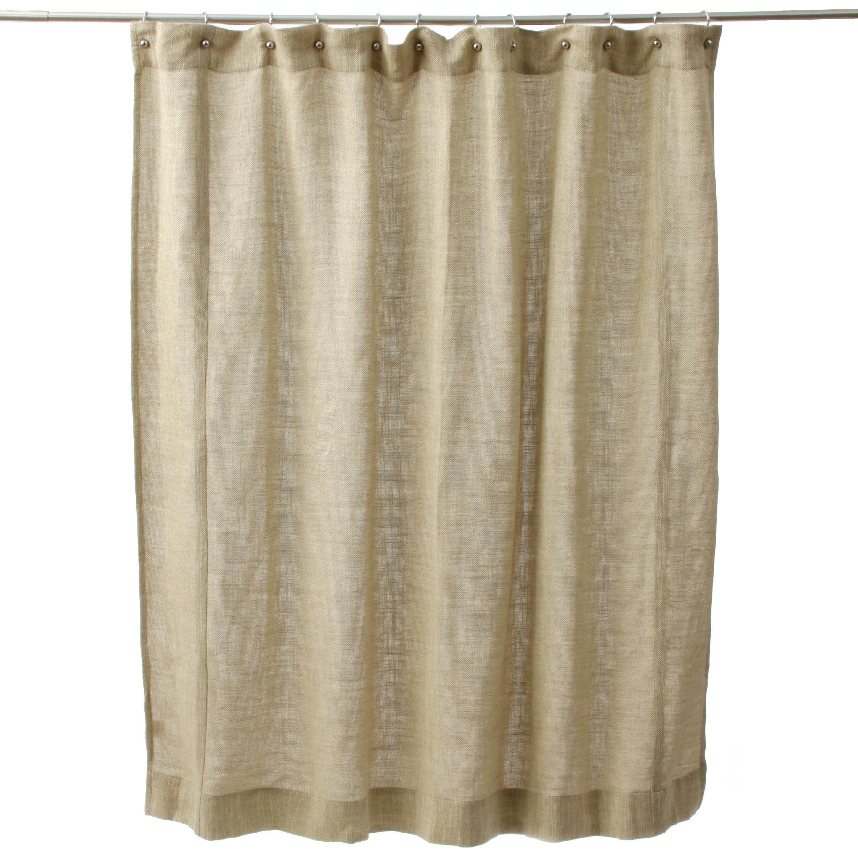 Jack Rustic Cotton Shower Curtain Khaki