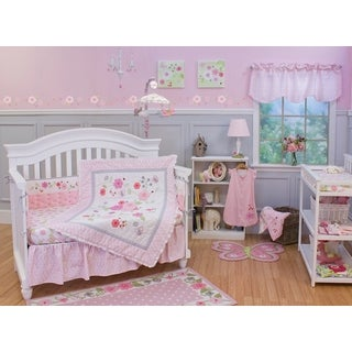 Nurture Imagination Garden District 4-piece Crib Bedding Set