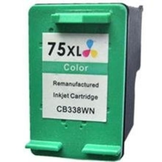 Insten Color Remanufactured Ink Cartridge Replacement for HP CB338WN/ 75XL