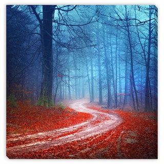 Gallery Direct Robson Photo 'Magic Forest Road' Gallery Wrapped Canvas Art