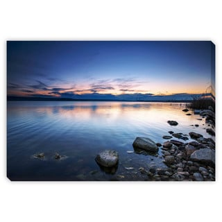 Gallery Direct Valentin Valkov 'Sunset Over the Lake' Gallery Wrapped Canvas Art