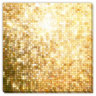Gallery Direct Beholdereye's 'Gold Glittering I' Canvas Gallery Wrap