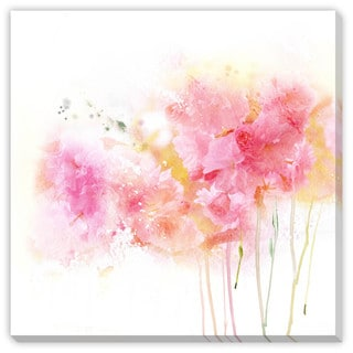 Gallery Direct Guz Anna's 'Pink and Gold Watercolor' Canvas Gallery Wrap