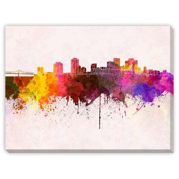Gallery Direct Paulrommer X27 S New Orleans Skyline In Watercolor