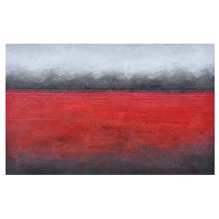Sunpan 'Ikon' 'Red Horizon' Canvas Wall Art