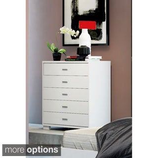 Manhattan Comfort White High Gloss 5-drawer Astor Dresser