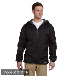 Dickies Men's Fleece-lined Hooded Nylon Jacket