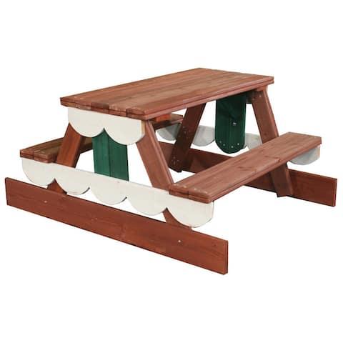 "Swing-N-Slide Wooden Picnic Table - 40"" W x 47.5"" L x 23"" H - 40"" W x 47.5"" L x 23"" H"