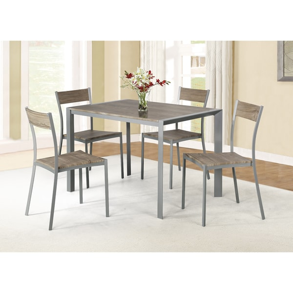Ash Brown 5 piece Dining Set Free Shipping Today  : Ash Brown Finished 5 Piece Dining Set f812ac3f 59cc 48c4 8991 98599c3c473d600 from www.overstock.com size 600 x 600 jpeg 45kB