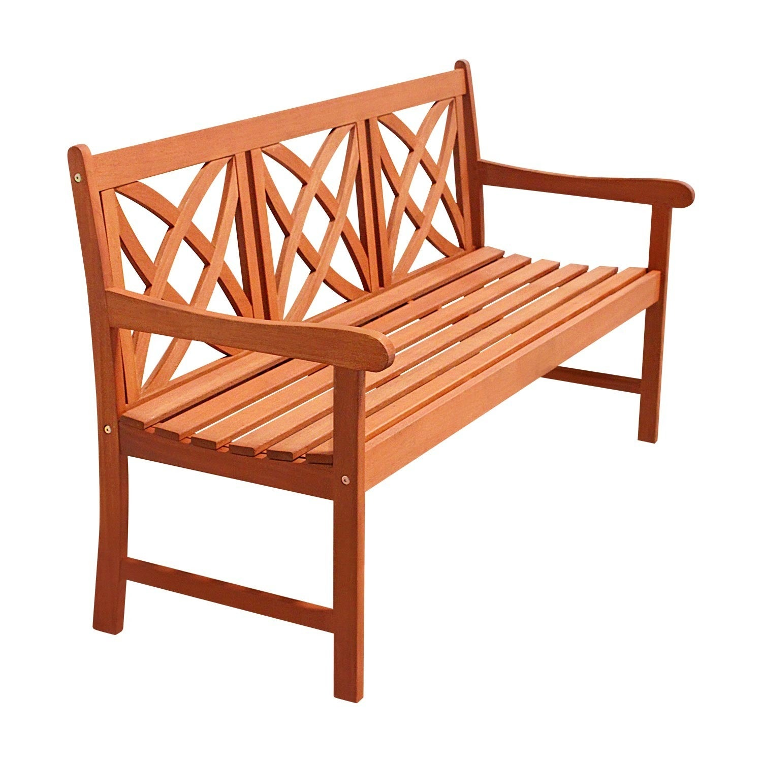 Shop Eco Firendly 5 Foot Wood Garden Bench Free Shipping On Orders