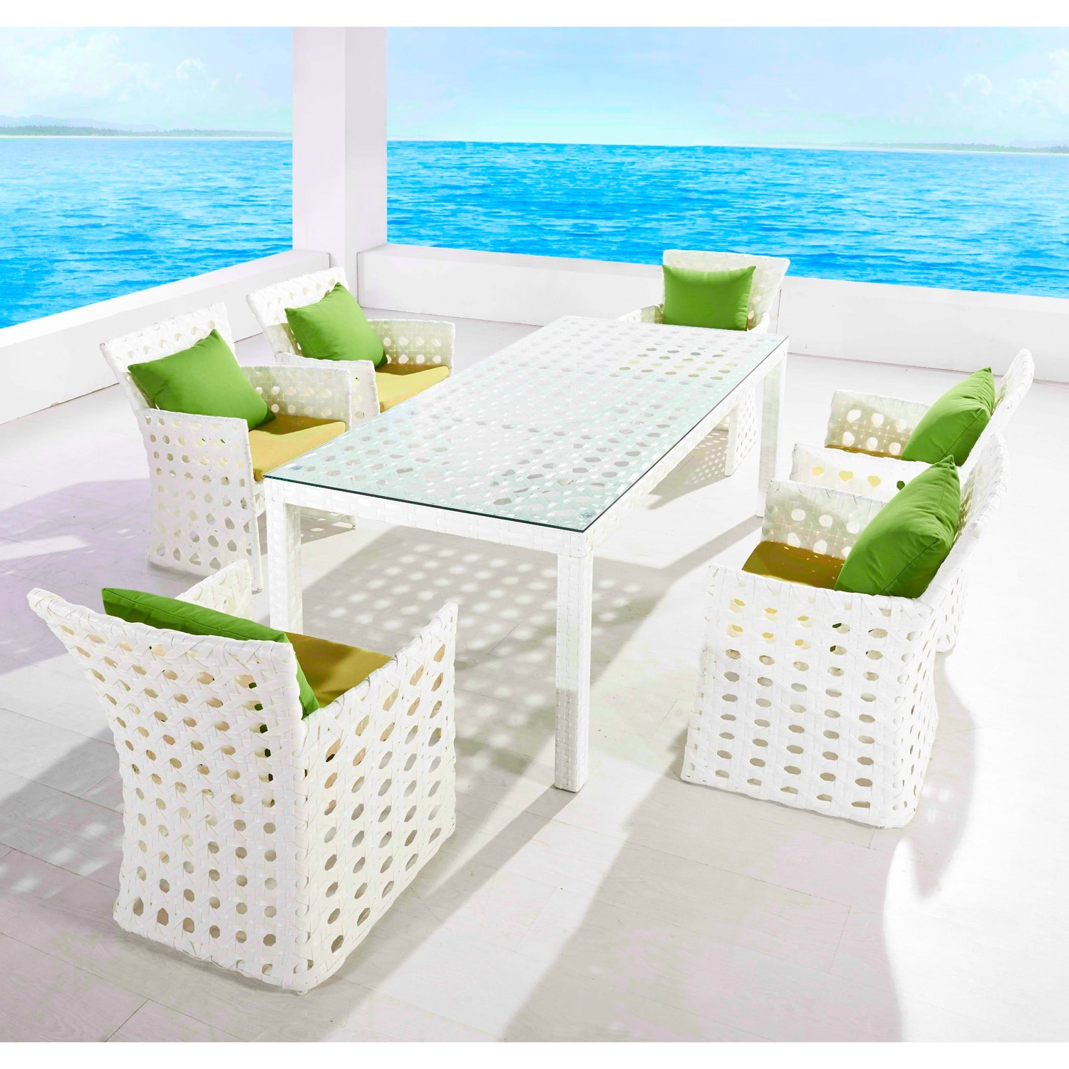 Ceets Coral 7-piece All Weather Outdoor Dining Set (Coral...