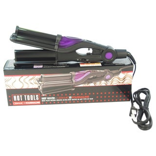 Hot Tools Ceramic Tourmaline Deep Waver Black Curling Iron