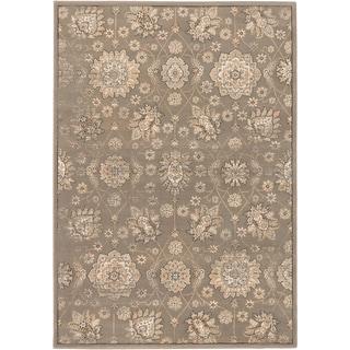 Shahrzad Anatolian Dark Khaki Grey Open Field Rug (7'10 x 11'2)