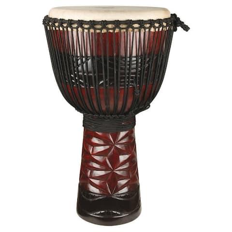 Handmade Large Ruby Professional Djembe Drum (Indonesia)