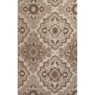 Southwestern/Tribal Pattern Beige Polyester Area Rug (7'6x9'6)