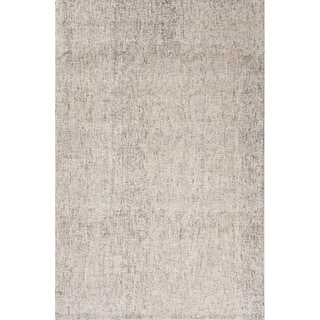 Hand Tufted Abstract Pattern Ivory/ Grey Wool Area Rug (9' x 12')