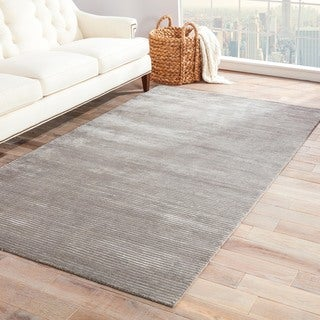 Phase Handmade Solid Gray/ Silver Area Rug (10' X 14') - 10' x 14'