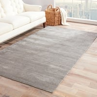 Phase Handmade Solid Gray/ Silver Area Rug - 10' x 14'