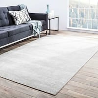 Phase Handmade Solid Light Gray Area Rug (10' X 14')